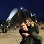 Adam s kamarátkou, večerné Sydney, Austrália 9/8/2016