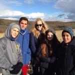 Grétka s priateľmi, zima 2015