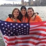 Nika s kamarátkami na lodi, New York, USA 11/08/2016