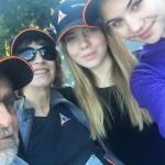 Zuzka s hosťovskou rodinou, Austrália