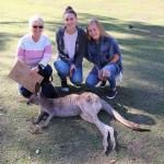 Laura s hosť maminou a kamarátkou, Alexandra Hills, Austrália 18/08/2016